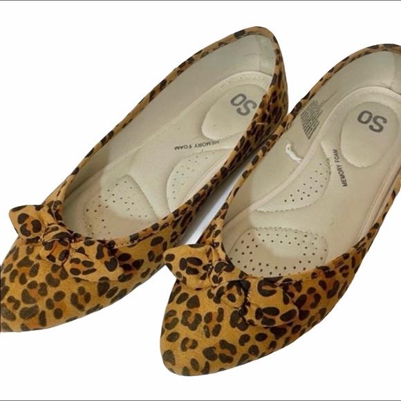 So....Memory Foam Flats Cheetah Print 8 1/2